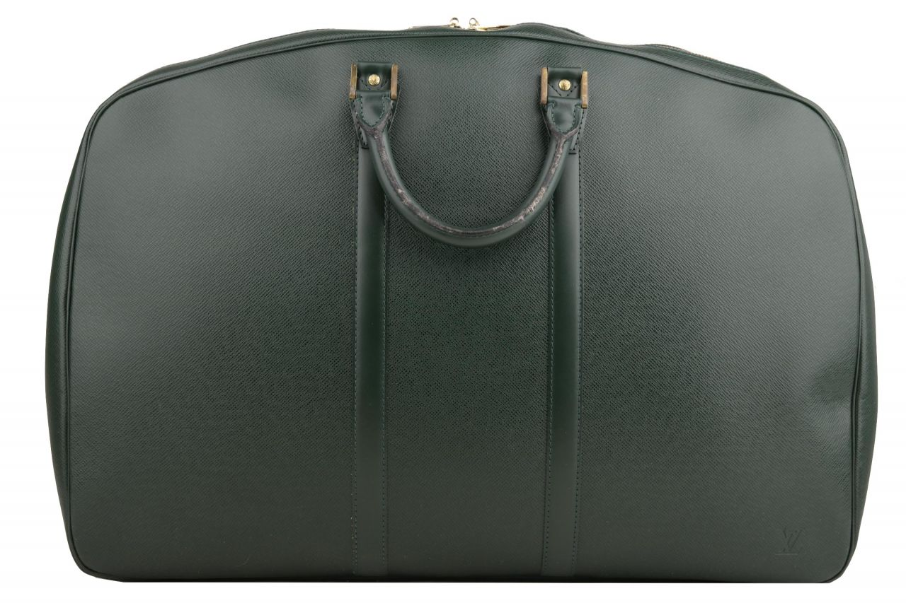 Louis Vuitton Helanga Taiga Leather Green