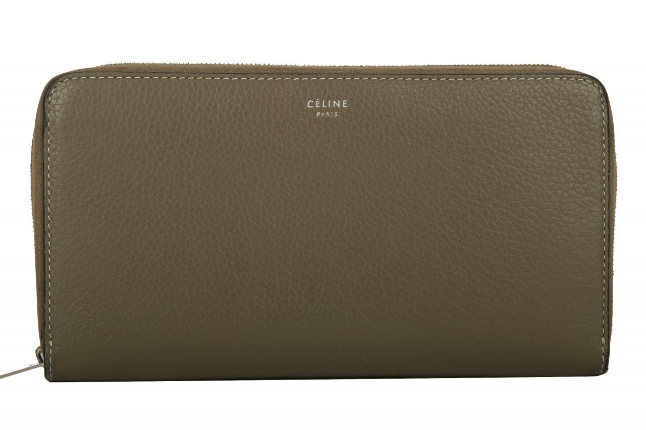 Céline Large Zipped Wallet Souris