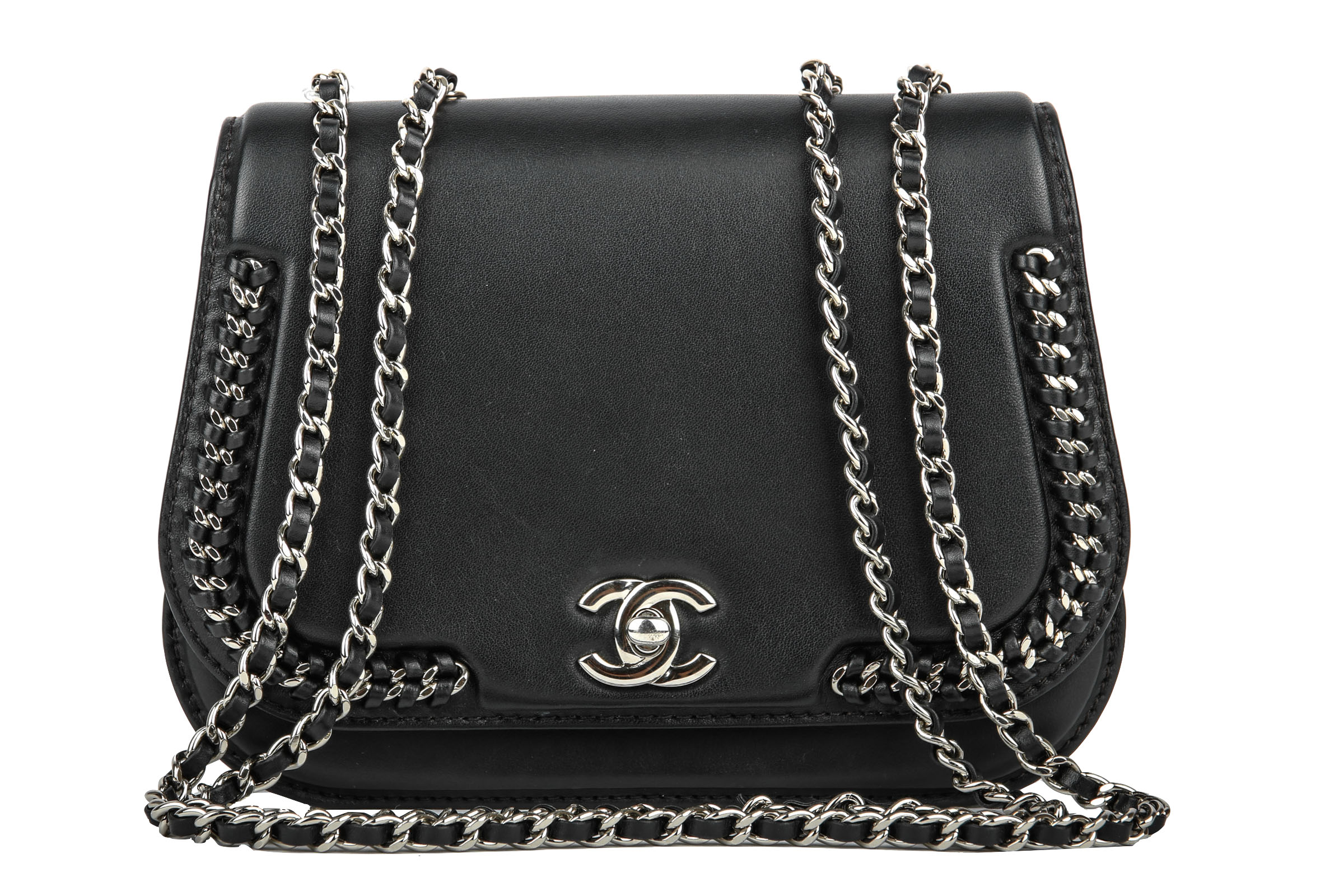 d965f7877fc3c Chanel Chain Crossbody Bag Schwarz