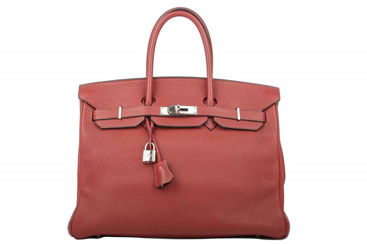 Hermès Birkin 35 Rouge Casaque Togo Leder
