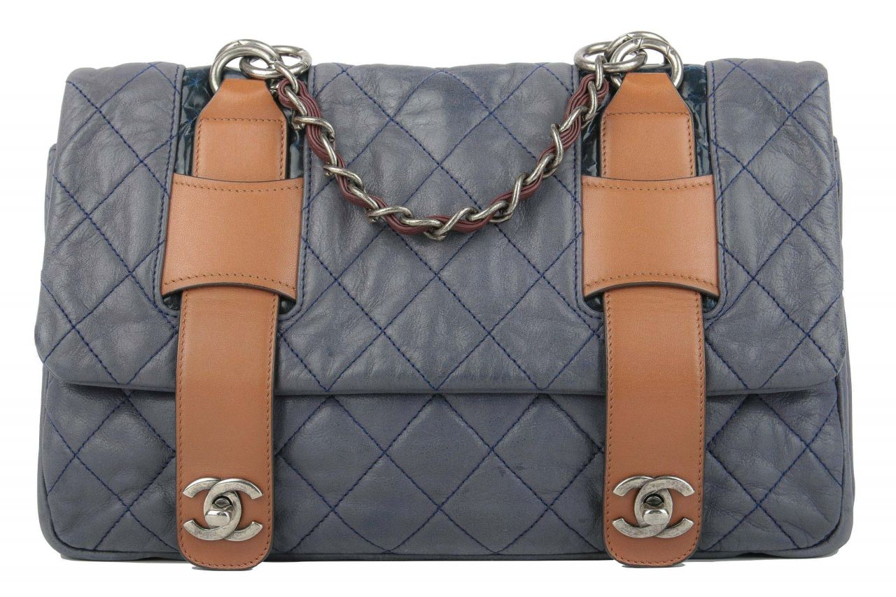 Chanel In The Mix Messenger Bag Blau/Braun