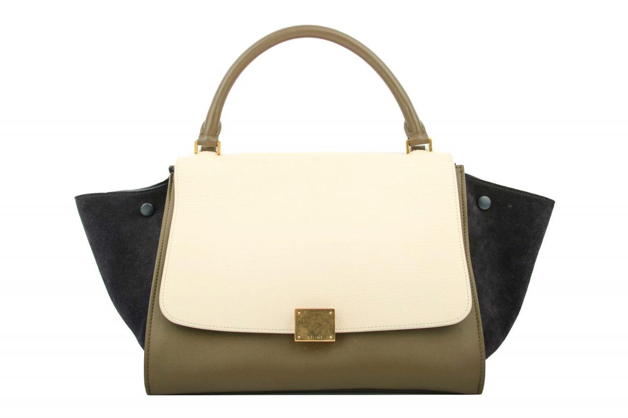 Céline Trapeze Bag Medium Tricolor