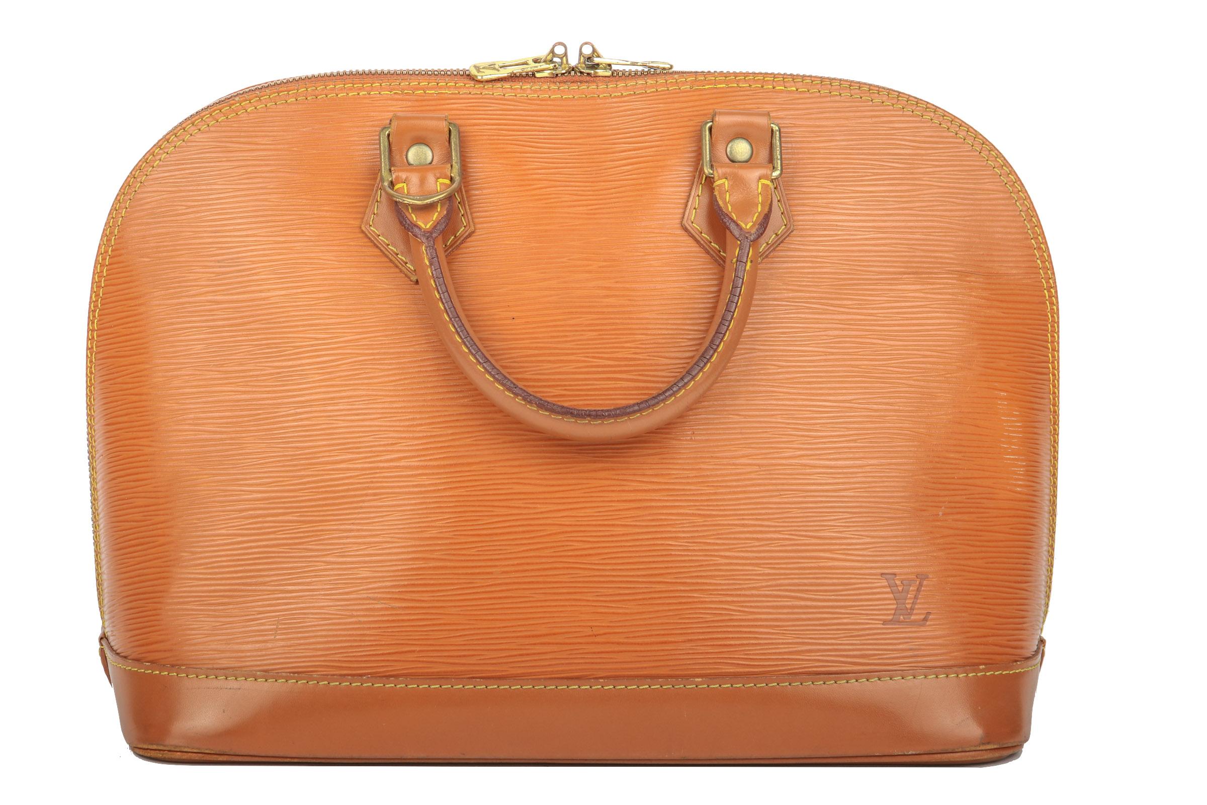 3094d7713b923 Louis Vuitton Alma PM Epi Leder Cognac
