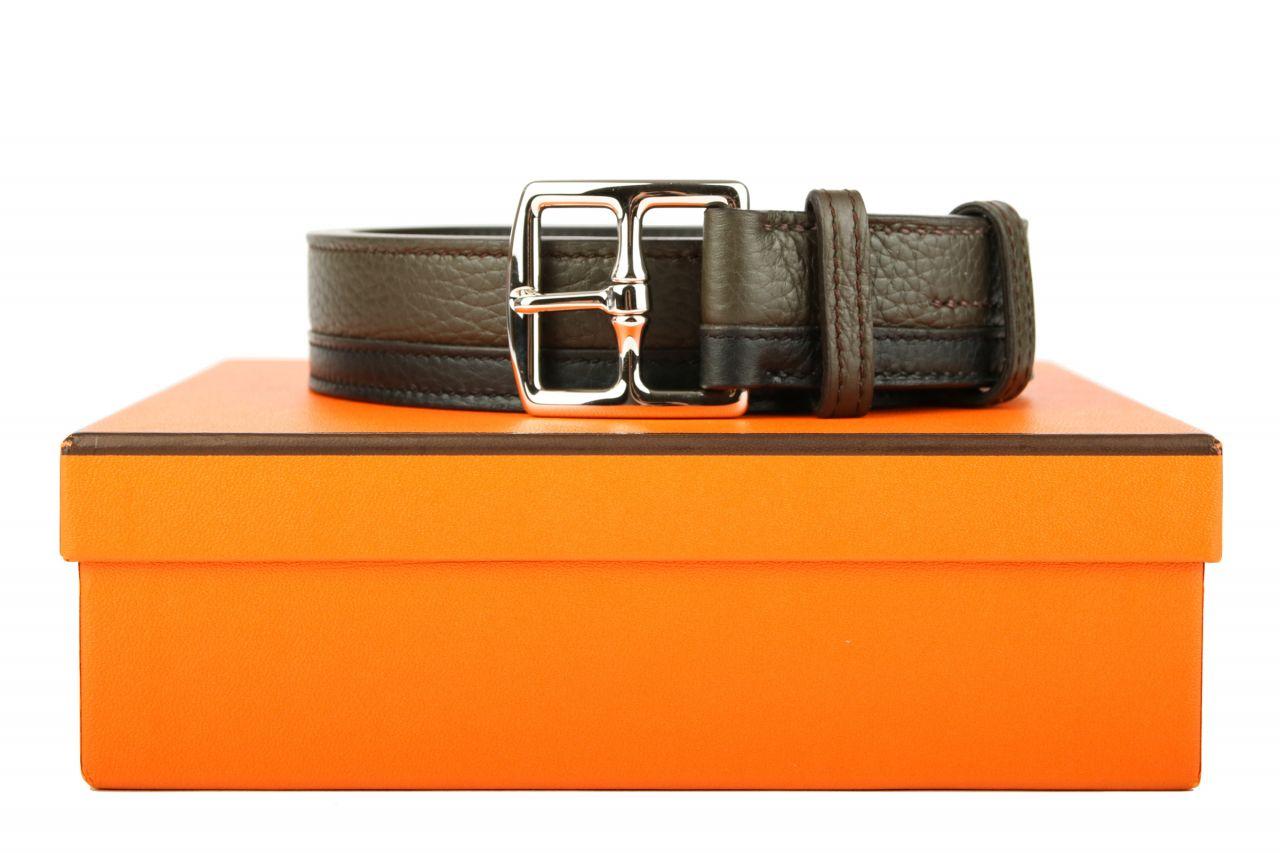 Hermès Gürtel Etrivière Zweifarbig