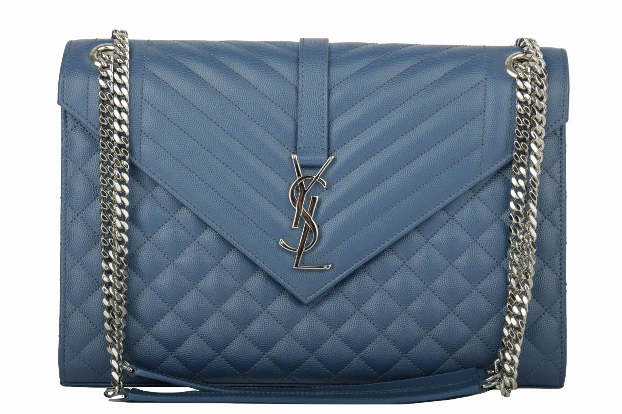 Yves Saint Laurent Envelope Large Blue