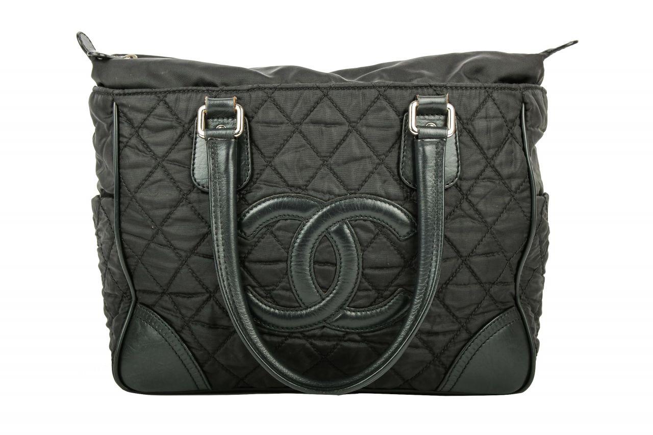 Chanel Shopper Schwarz CC