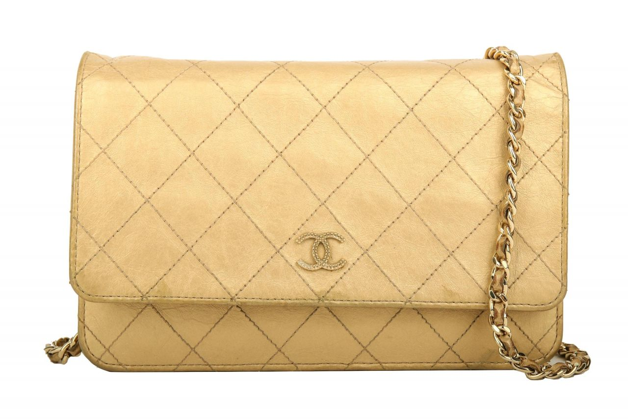 Chanel Vintage Crossbody Bag Gold