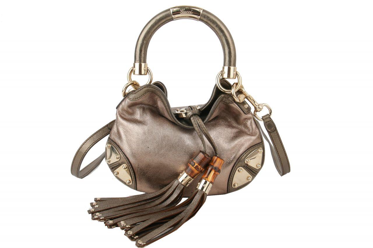 Gucci Indy Mini Bag Grau Metallic