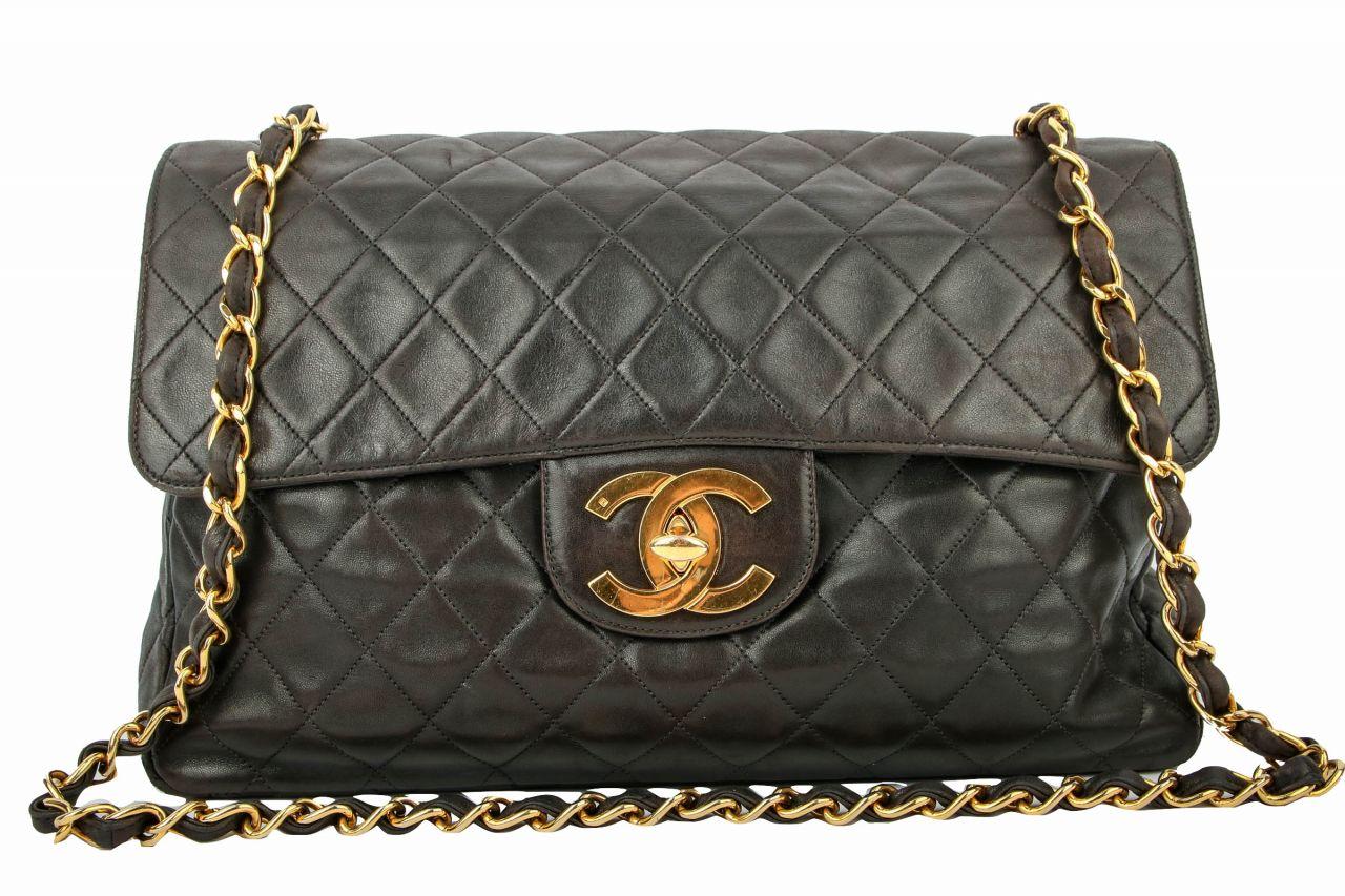Chanel Single Flap Maxi Classic schwarz
