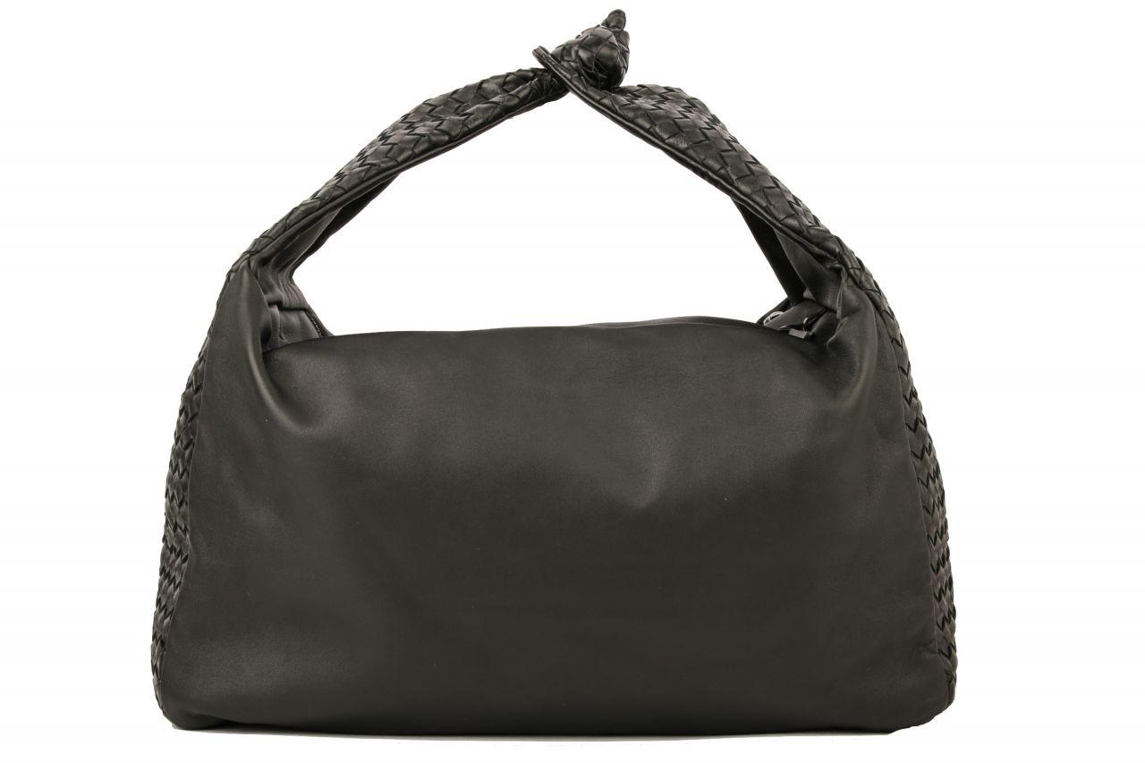 Bottega Veneta Intrecciato Shoulder Bag Schwarz