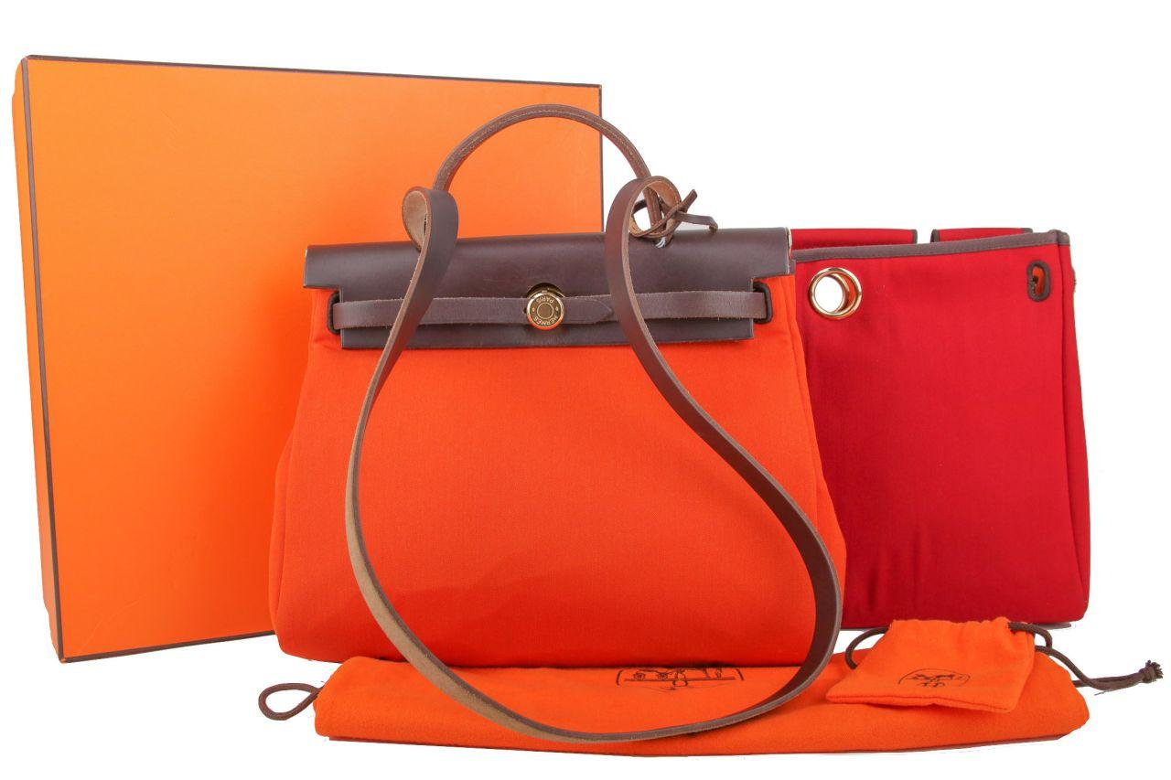 Hermès Herbag Rot/Orange
