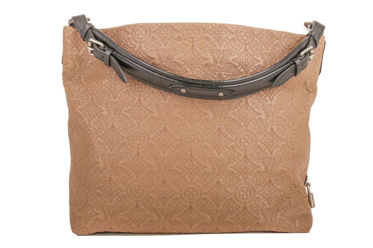 Louis Vuitton Hobo Antheia Olive Stitched Mahina Monogram
