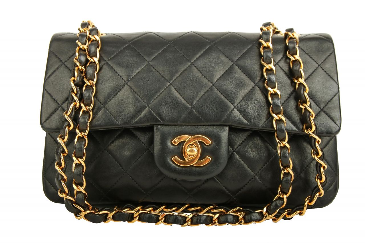 Chanel Timeless Classic Double Flap Small Schwarz