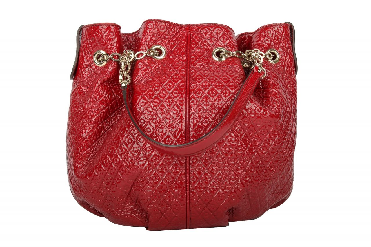 Tod's Bucket Patent Leather Red