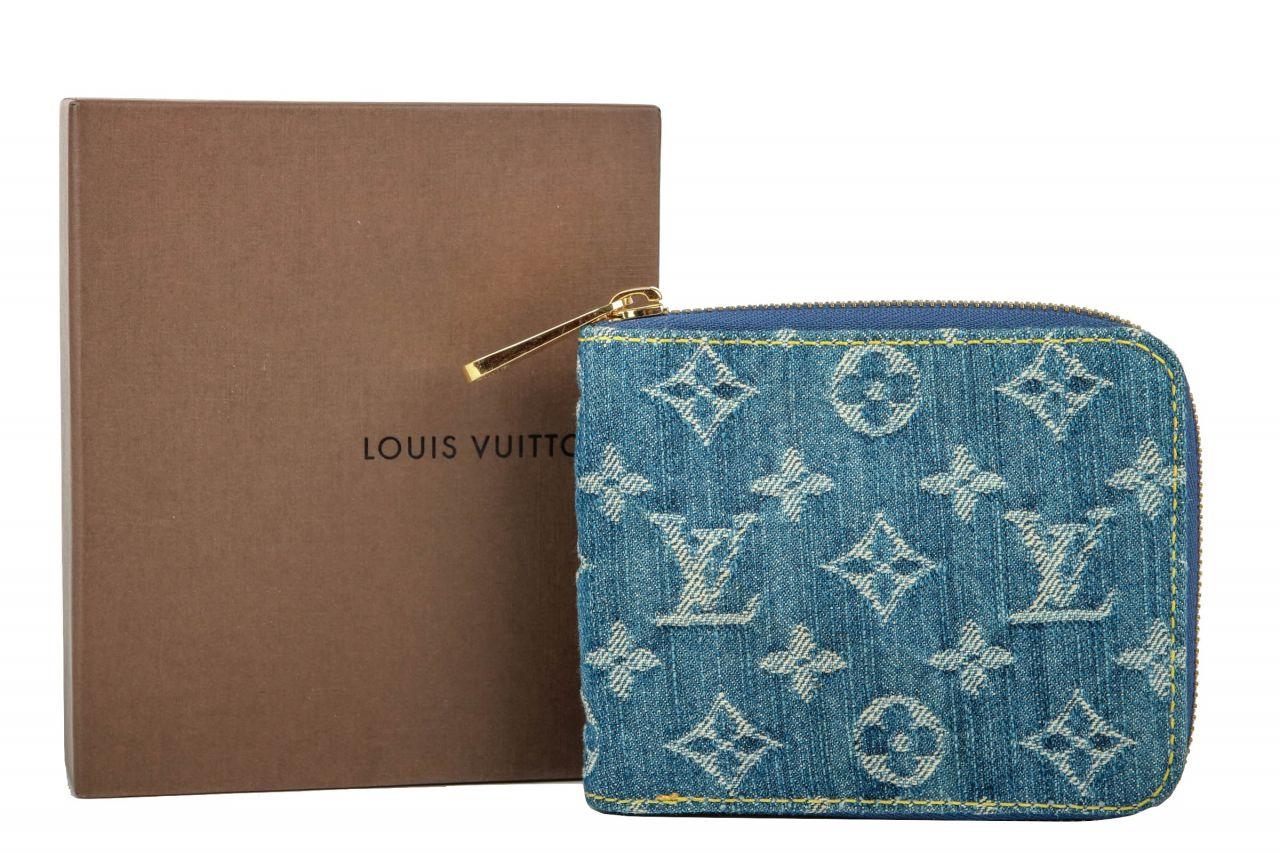 Louis Vuitton Denim Mini Zippy Geldbörse