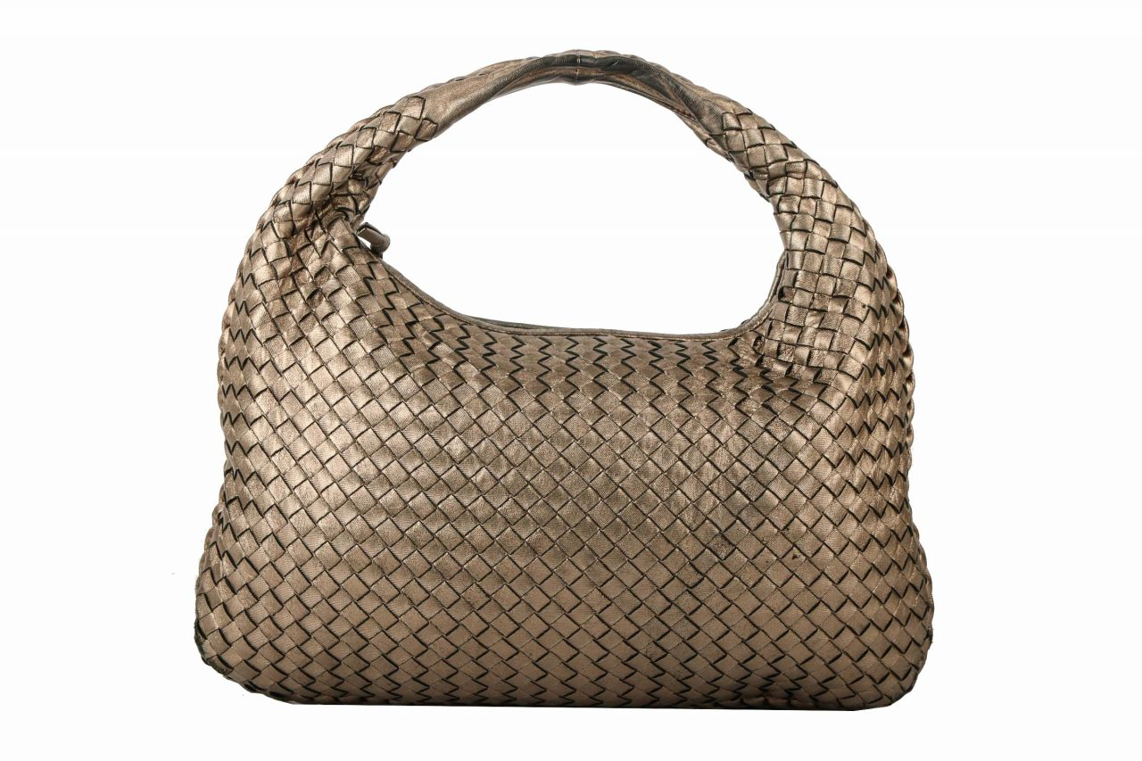 Bottega Veneta Nappaleder Intrecciato Metallic Small