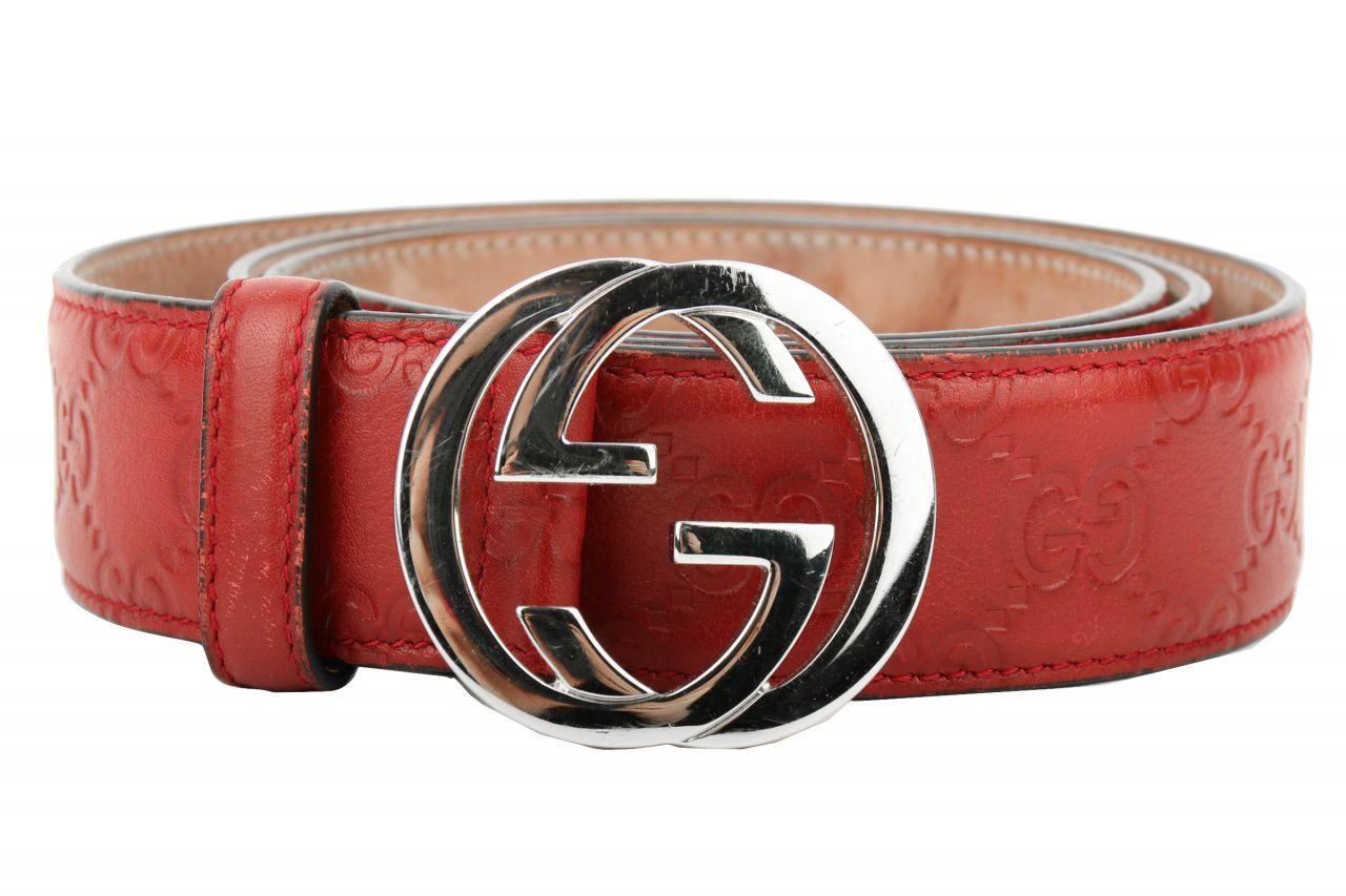 Gucci Gürtel Rot Guccissima
