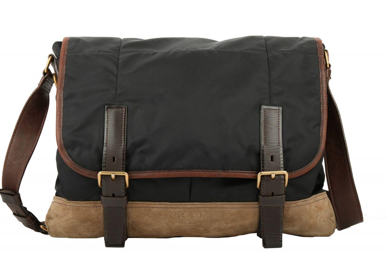 Prada Messenger Bag Schwarz Braun