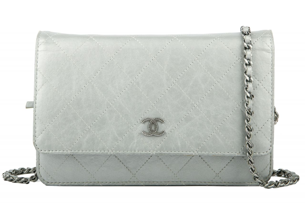 Chanel Wallet on Chain Silver
