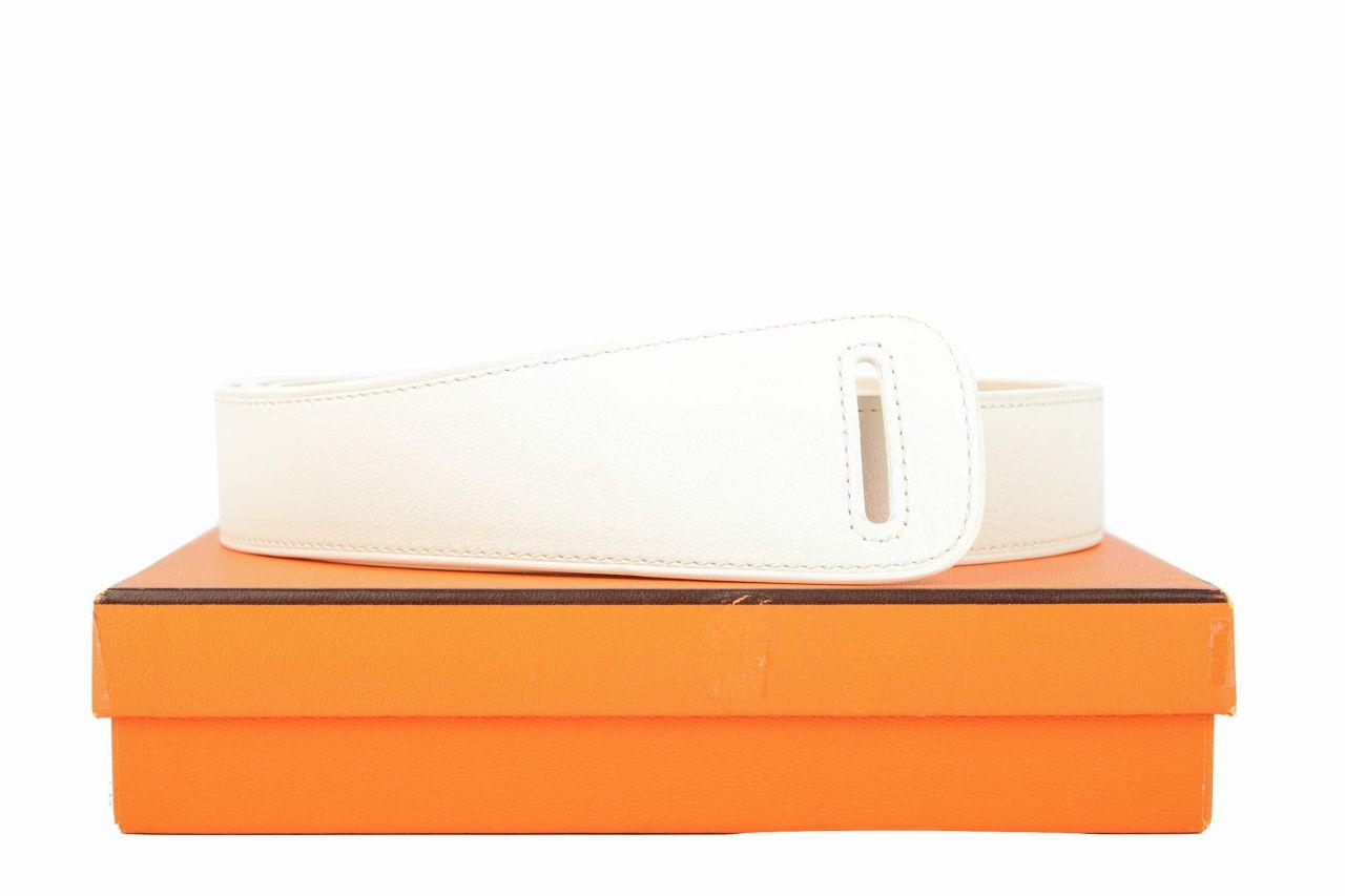 Hermès Gürtel Weiß