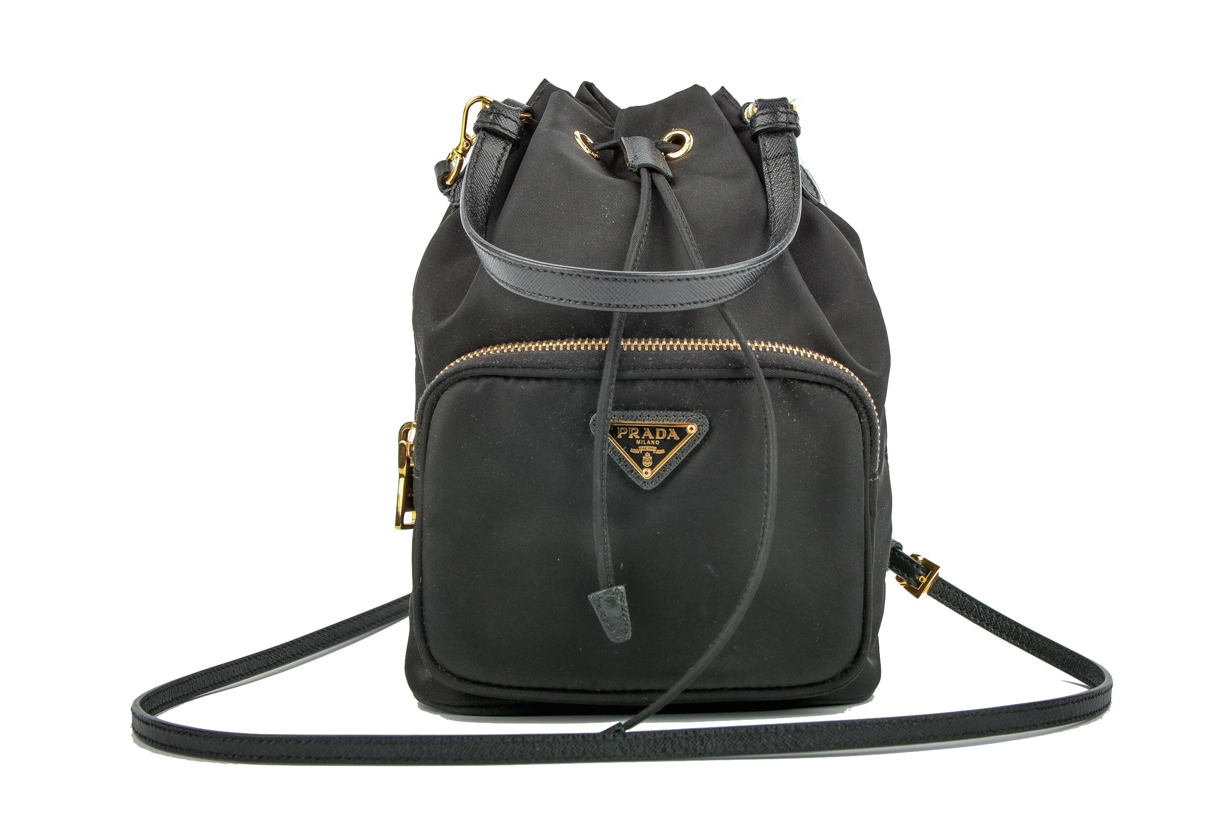 766a2a2d44b2 ... canada prada bucket bag nylon saffiano leather black 4bd39 ba2ab ...