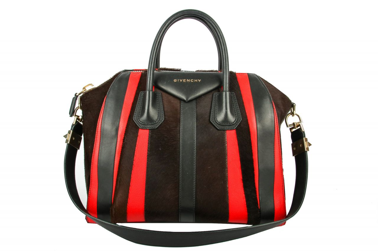 Givenchy Antigona Bag Medium Brown/Red/Black
