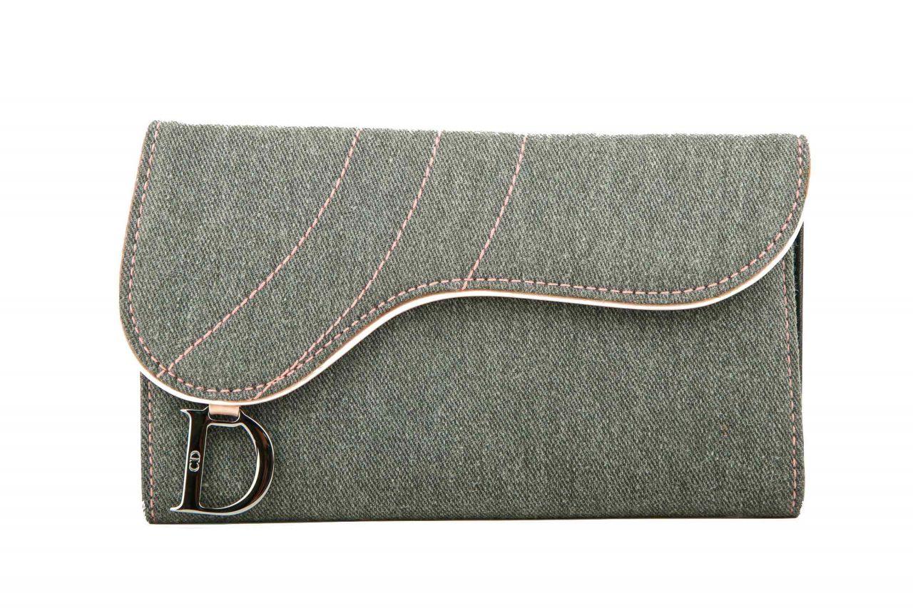 Dior Portemonnaie Grau/Rosa