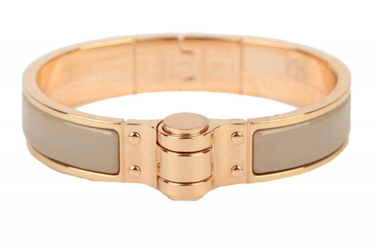 Hermès Charnière Armreif Taupe/Gold