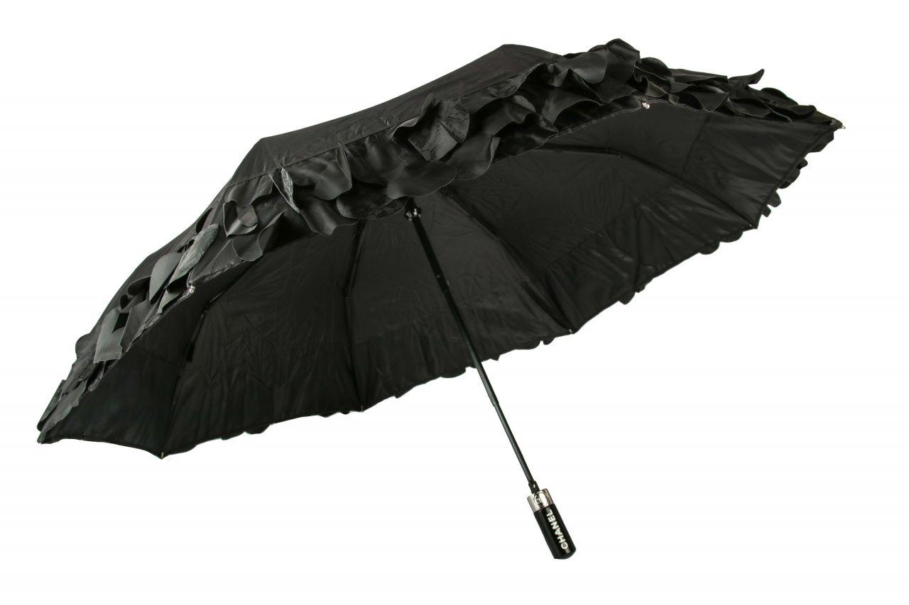 Chanel Regenschirm Schwarz