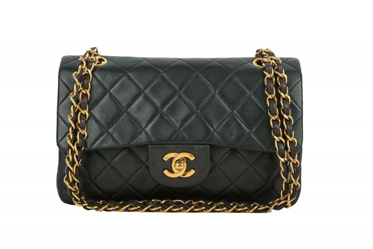 Chanel Timeless Double Flap Small Schwarz