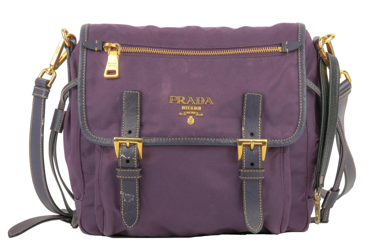 Prada Vela Messenger Bag Lila
