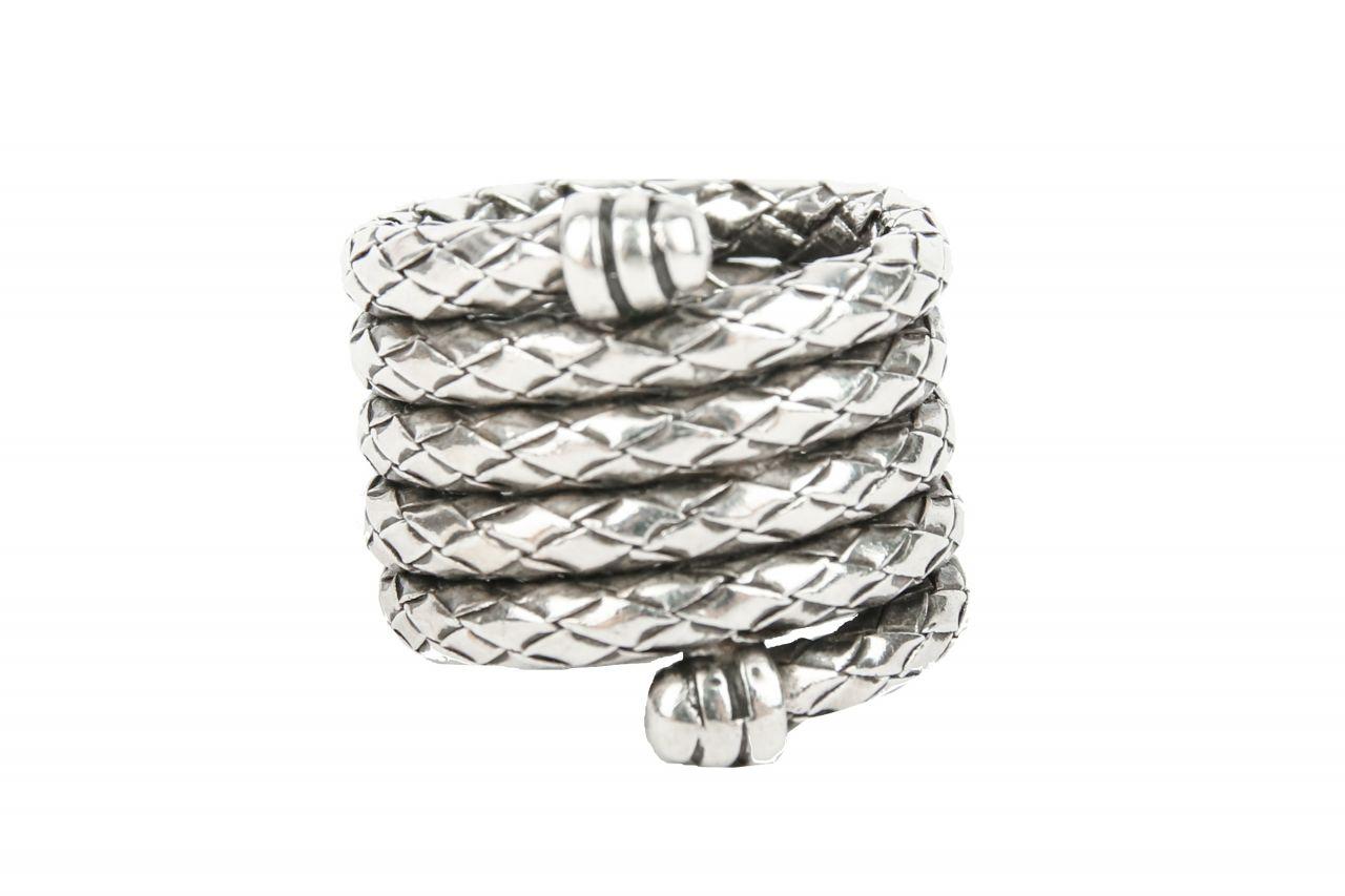 Bottega Veneta Ring Silber