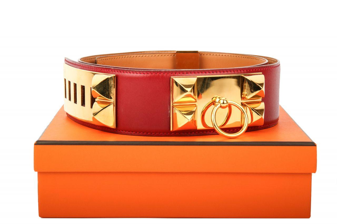 Hermès Gürtel Collier de Chien Rouge