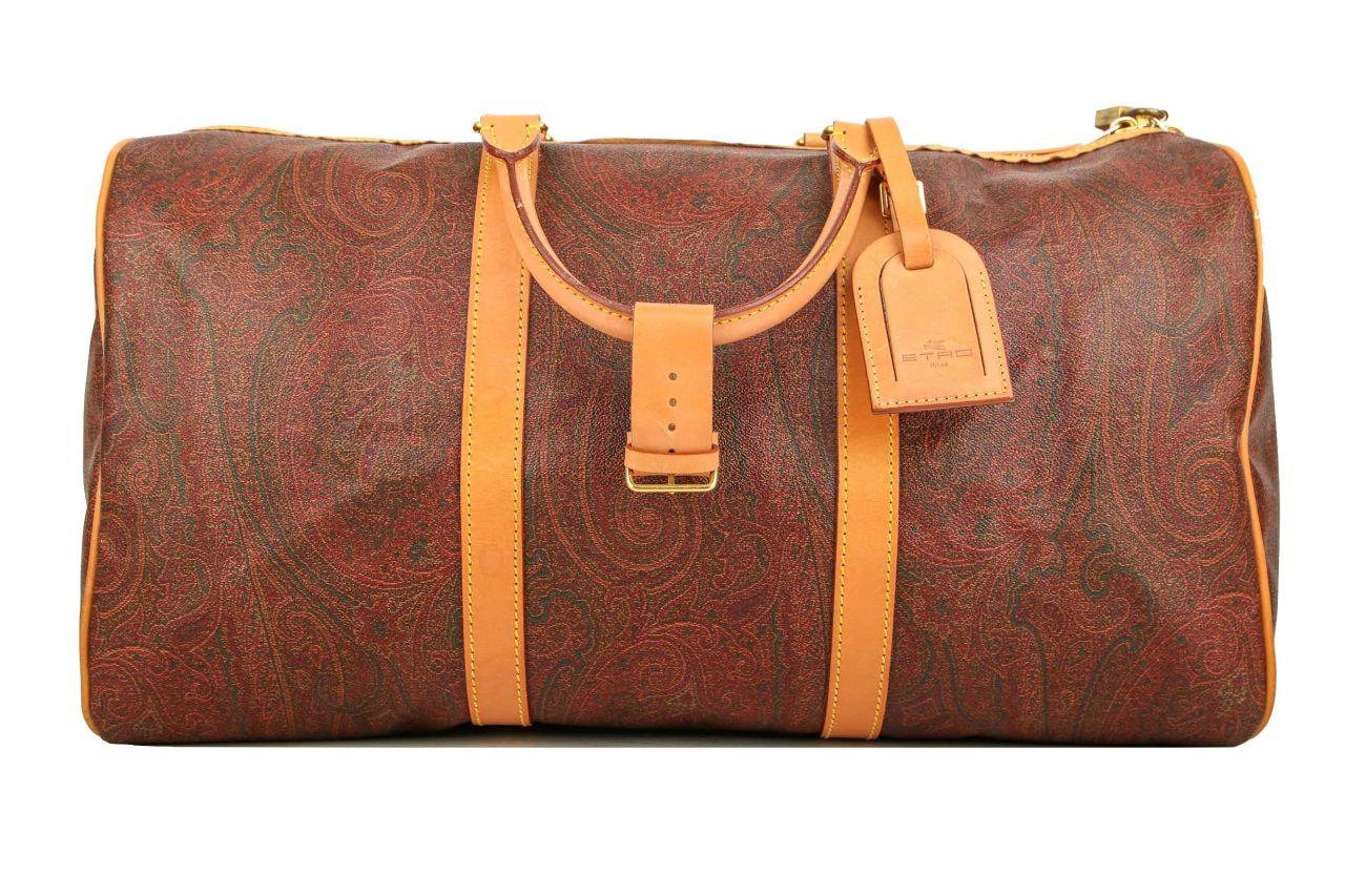 Etro Boston Bag 50 Paisley Braun