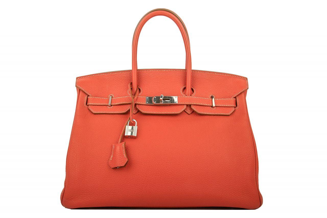 Hermès Birkin 35 Crevette Togo Leder