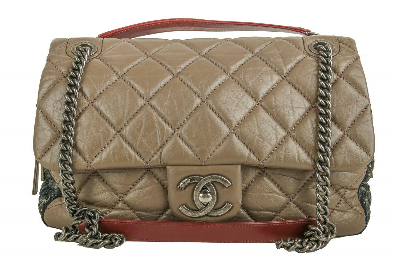 Chanel Easy Flap Bag 31 Rue Cambon Felt Leather