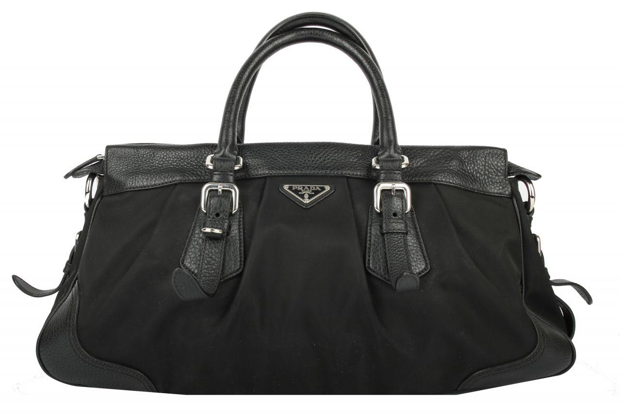 Prada Handtasche Leder/Nylon Schwarz