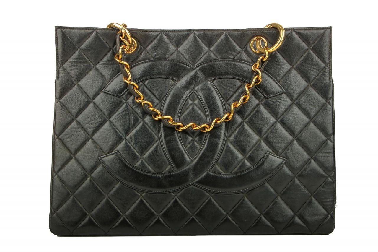 Chanel Vintage Shopper Schwarz