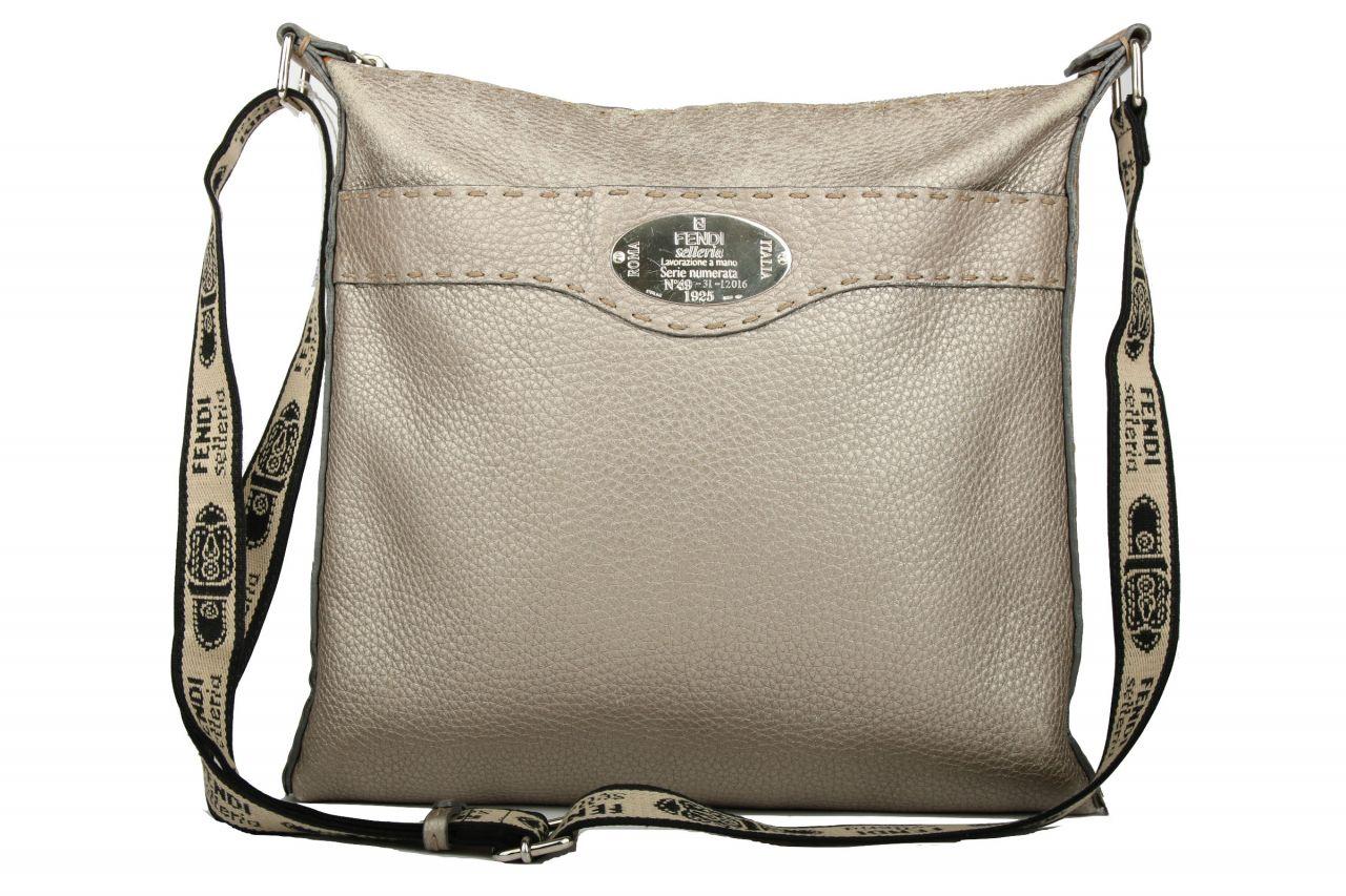 Fendi Selleria Messenger Bag Metallic