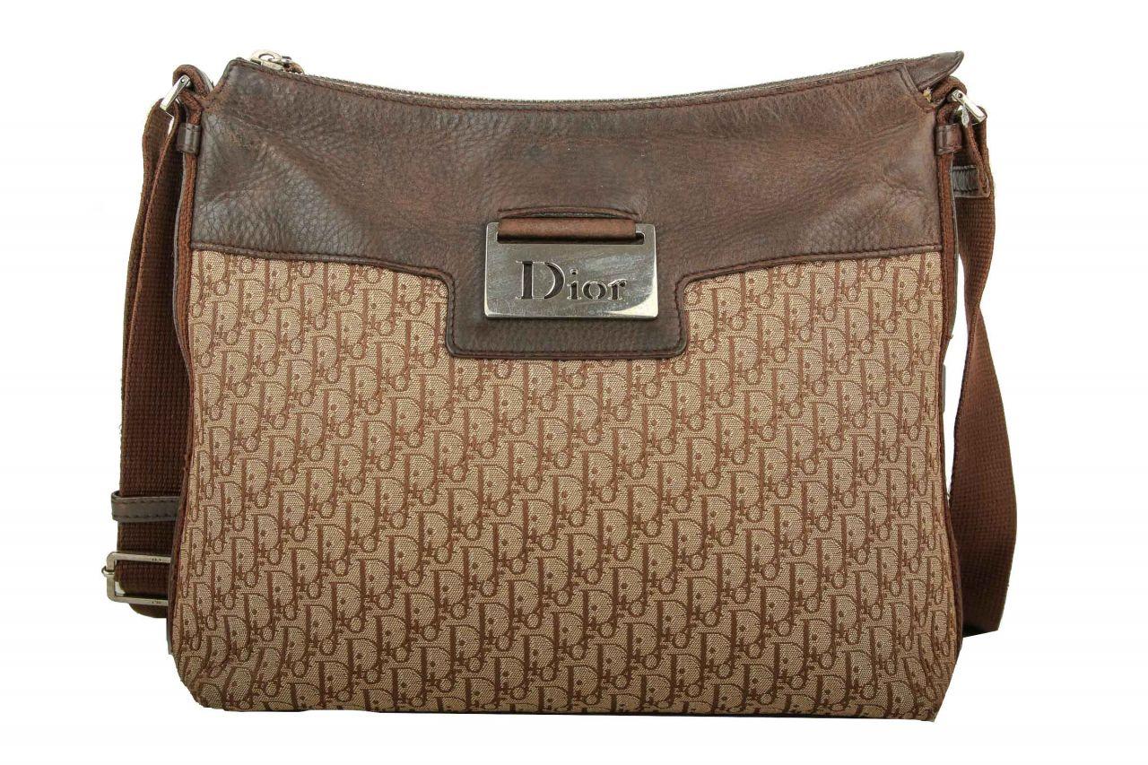Dior Umhängetasche Canvas Braun