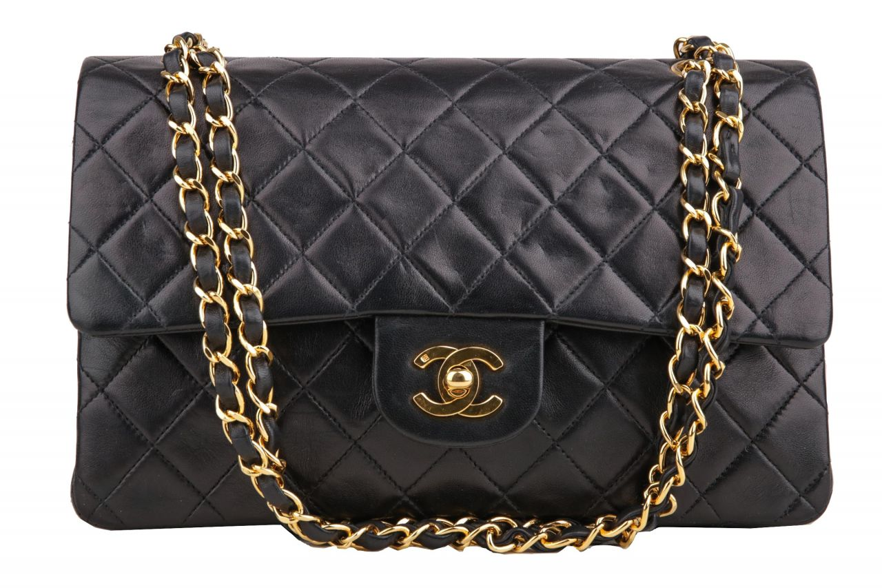 Chanel Timeless Classic Double Flap Medium Schwarz