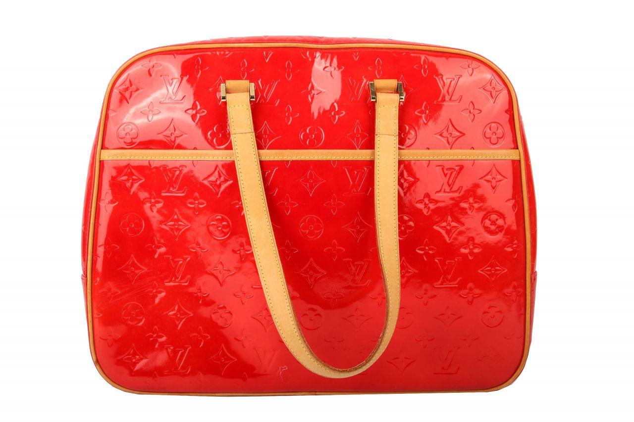 Louis Vuitton Vernis Sutton Bag Rouge Grenadine