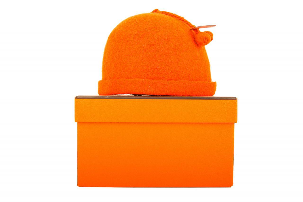 Hermès Babymütze Orange