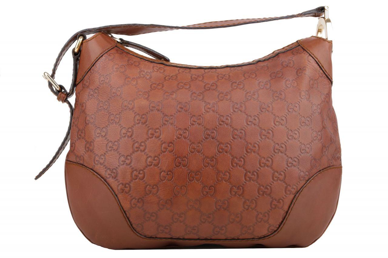 Gucci Guccissima Hobo Shoulder Bag Braun