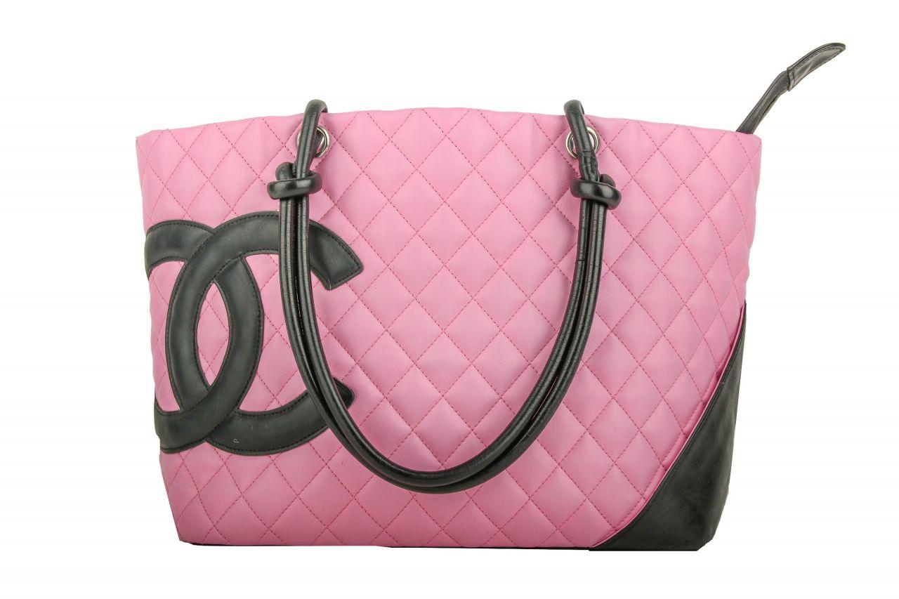 Chanel Cambon Ligne Shopper Pink