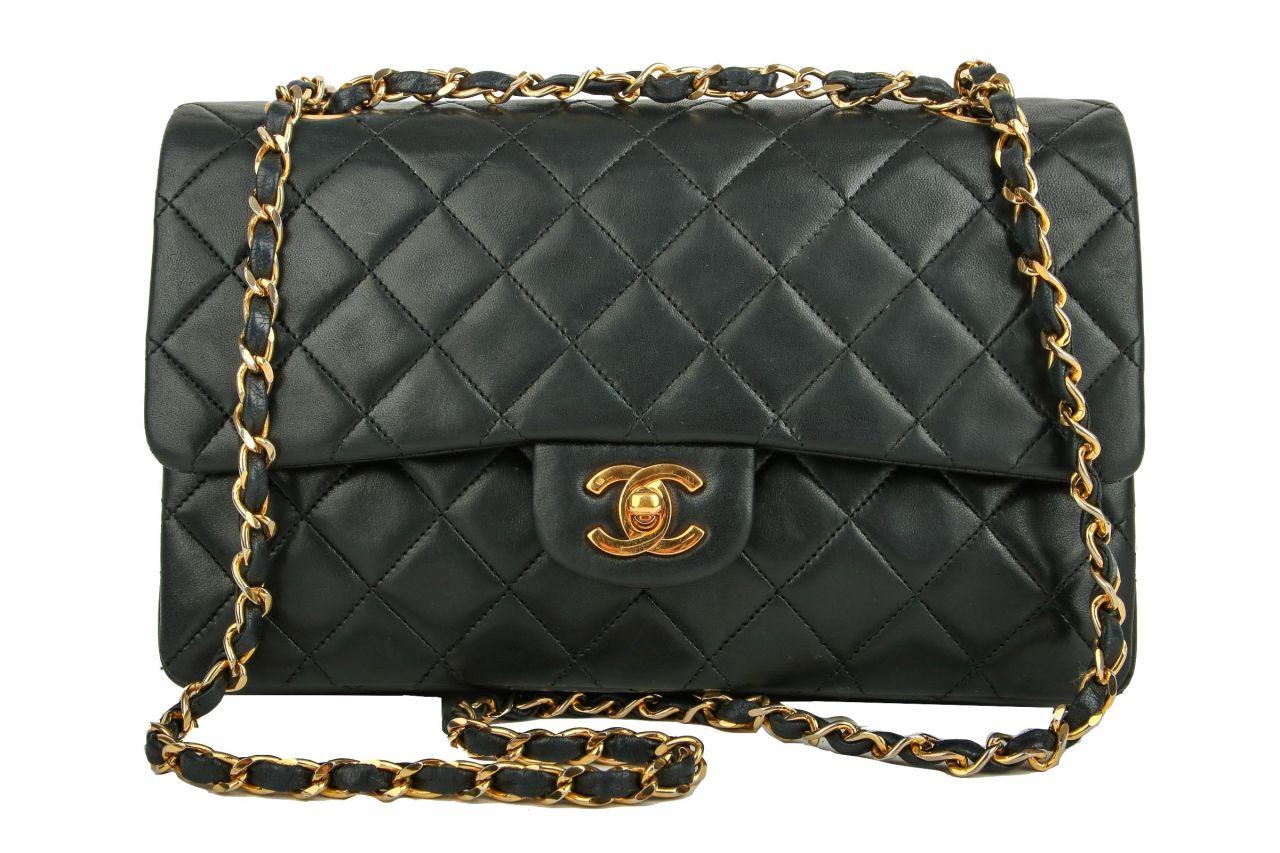 Chanel Timeless Double Flap Medium Black