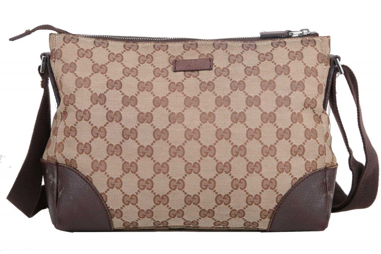 Gucci Guccissima Messenger Bag Beige