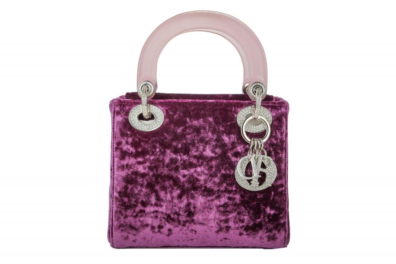 Lady Dior Limited Edition Flieder Samt