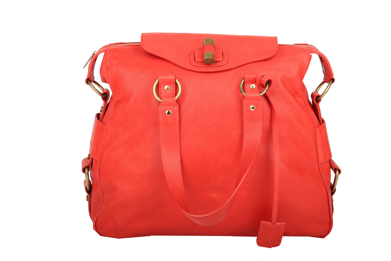 5b6e800e0257c Saint Laurent Muse Handtasche Rot