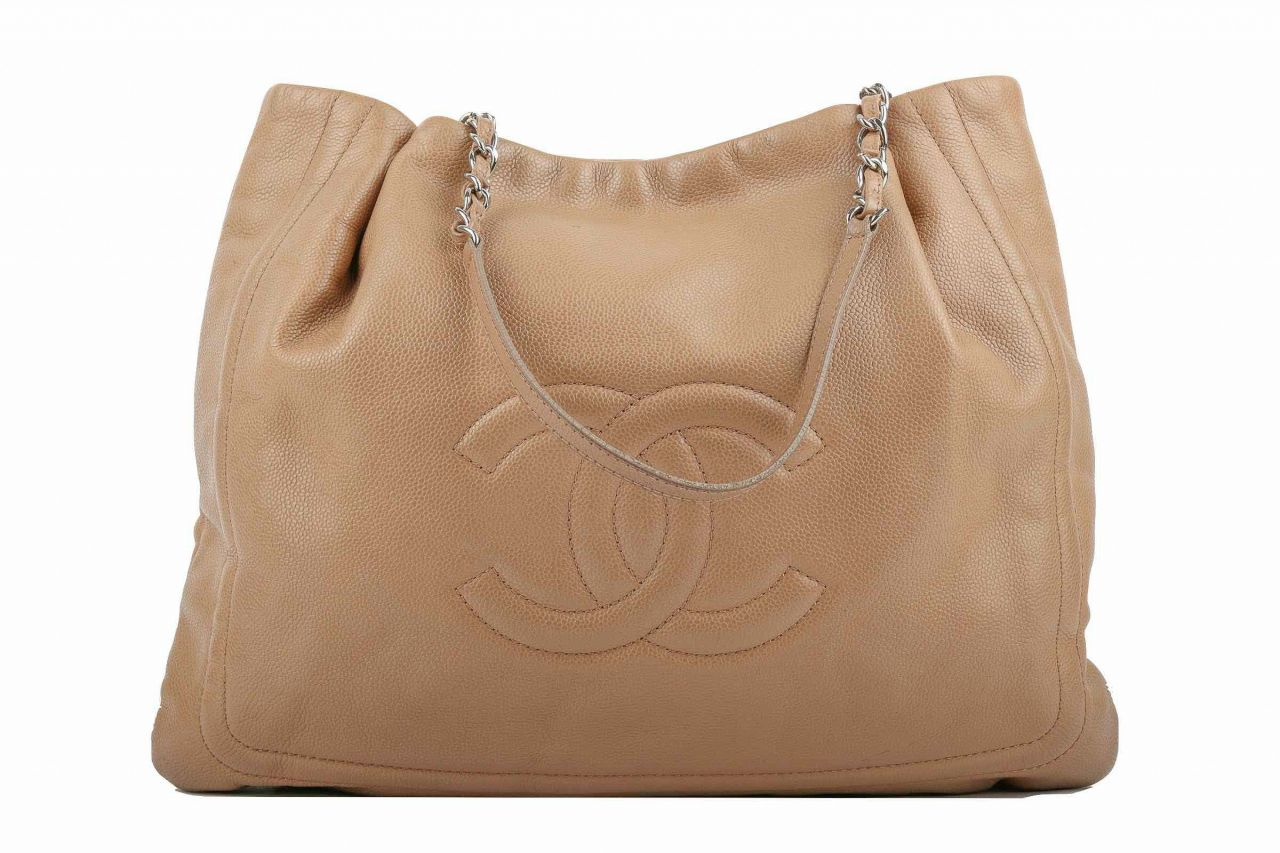 Chanel Shopper Kaviar Leather Camel